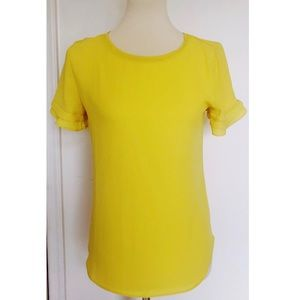 Yellow Size Small Ann Taylor Top